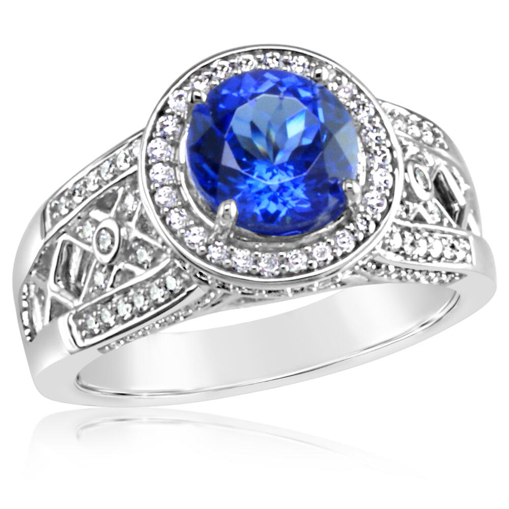 18K White Gold Tanzanite/Diamond Ring by Parle