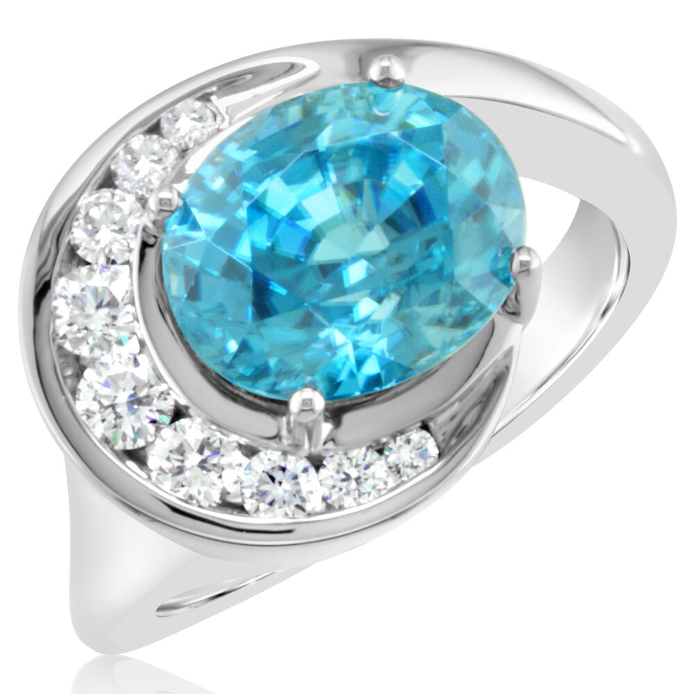 White Gold Zircon Ring by Parle