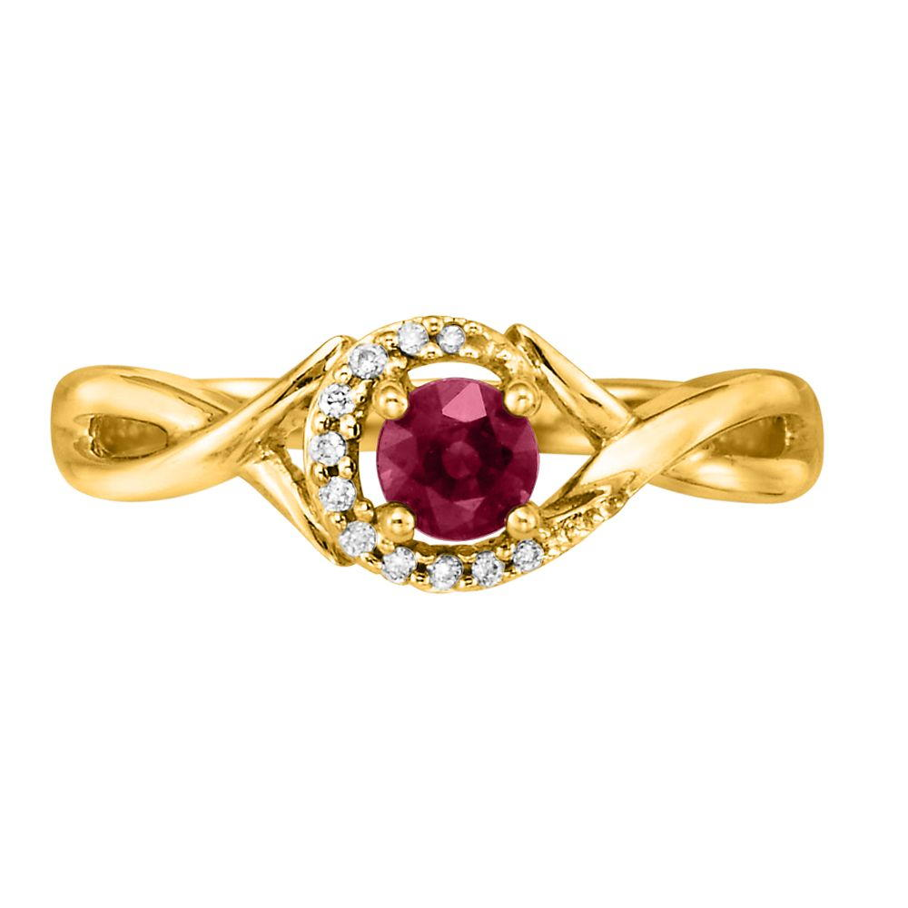 14K Yellow Gold Madagascar Ruby/Diamond Ring by Parle