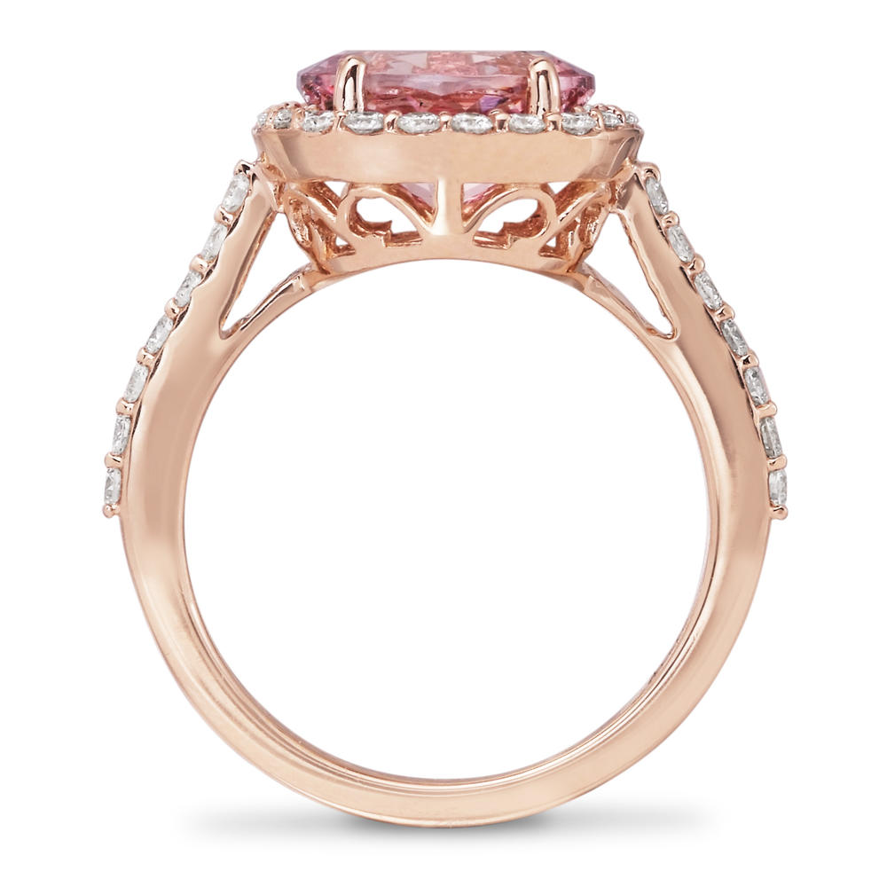 Rings - Rose Gold Garnet Ring - image 3