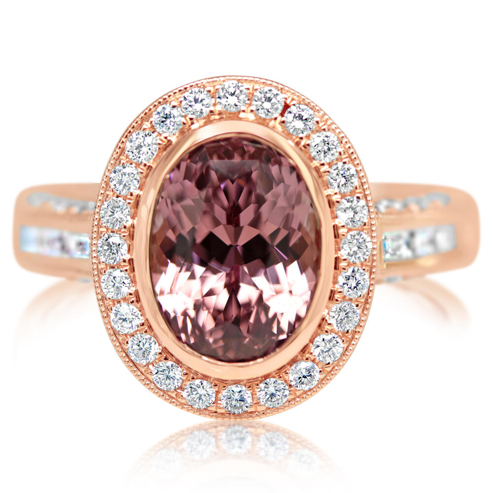 Rings - Rose Gold Lotus Garnet Ring