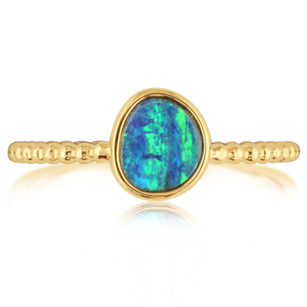 Rings - Yellow Gold Opal Doublet Ring