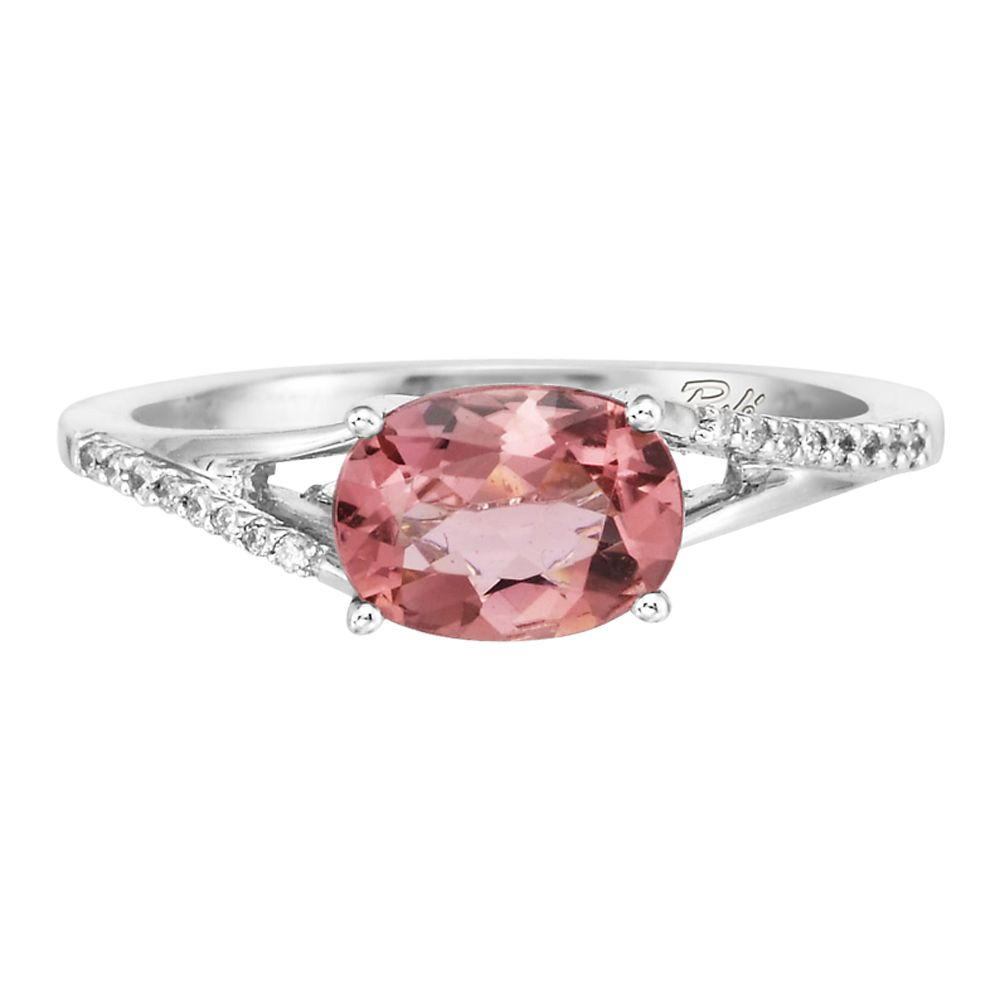 14K White Gold Pink Tourmaline/Diamond Ring by Parle