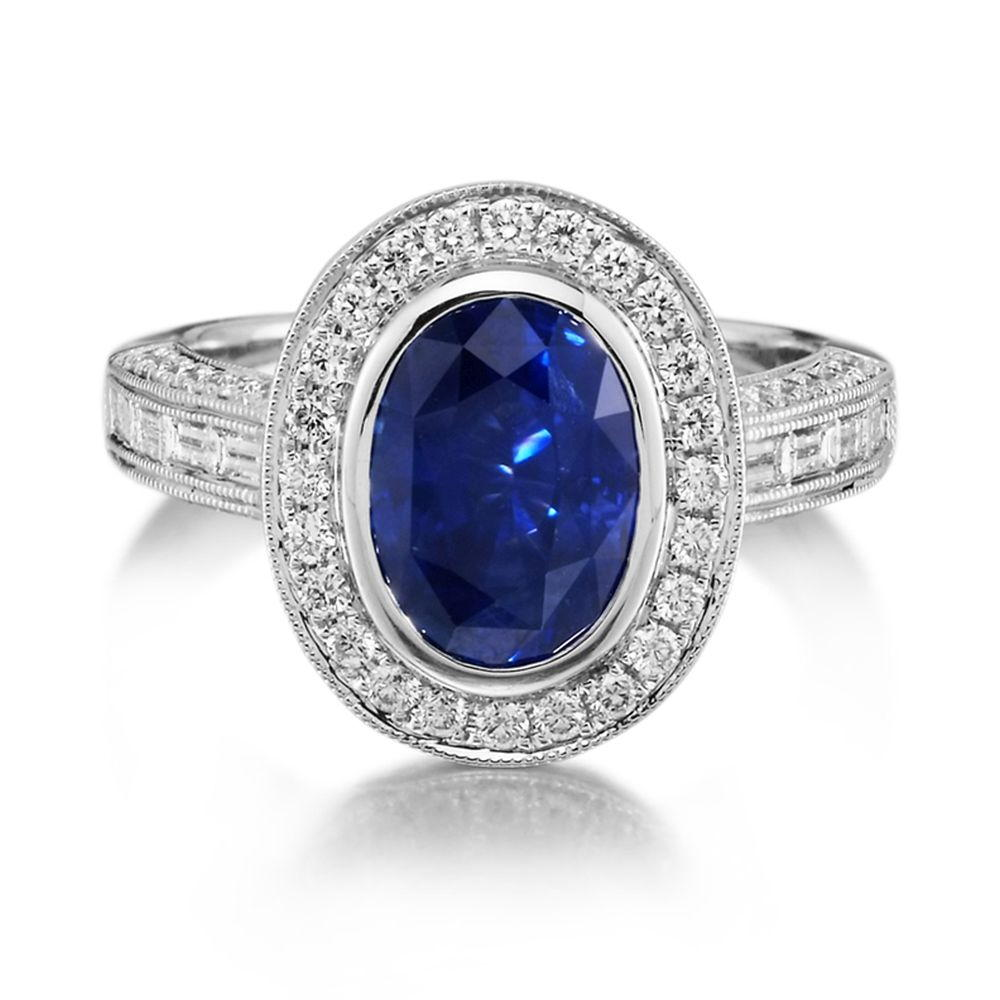 Rings - White Gold Sapphire Ring