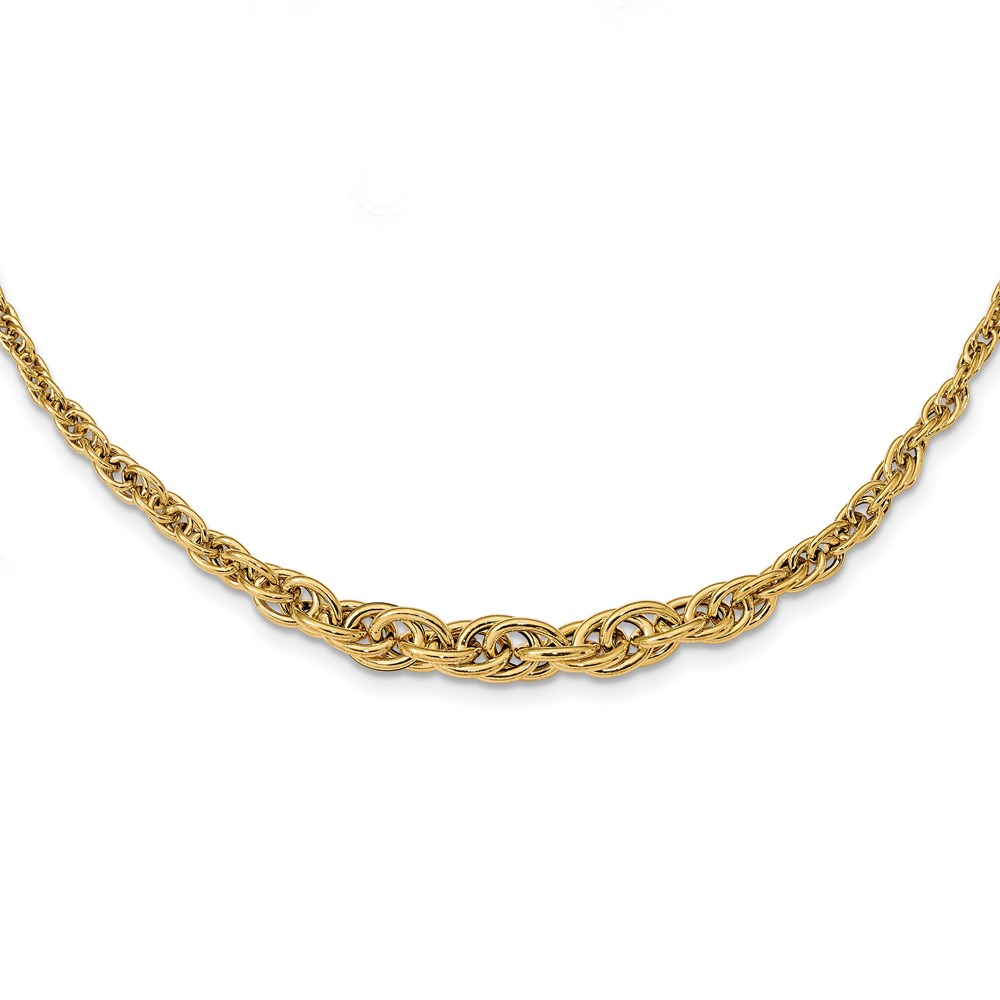 14k Yellow Gold Necklace - Leslie's 14K Polished Fancy Necklace