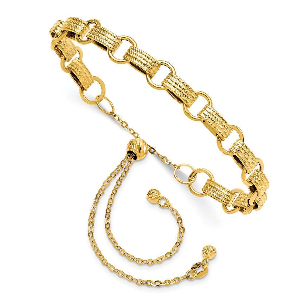 14k Yellow Gold Bracelet by Leslie