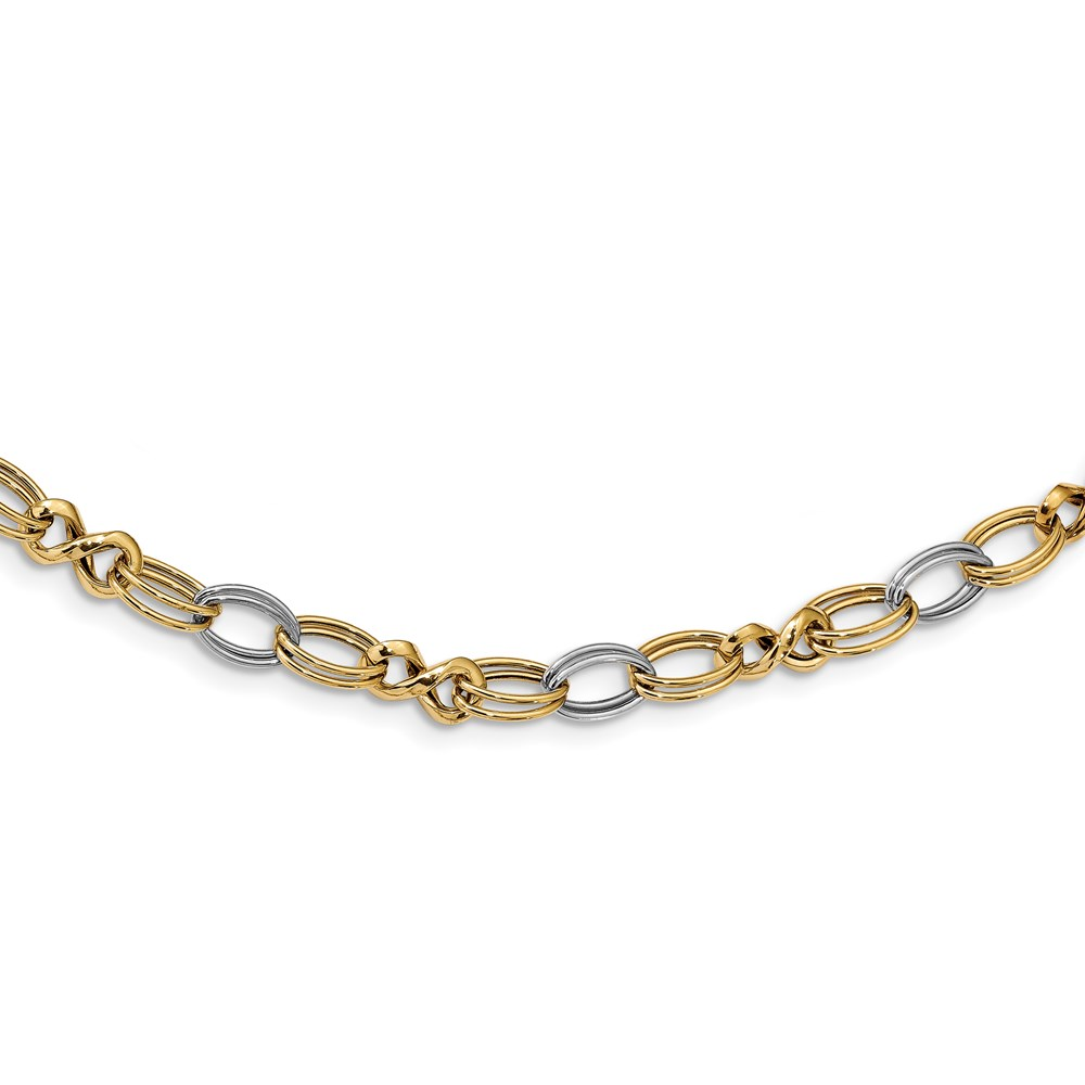 14k Two-tone Necklace by Leslie