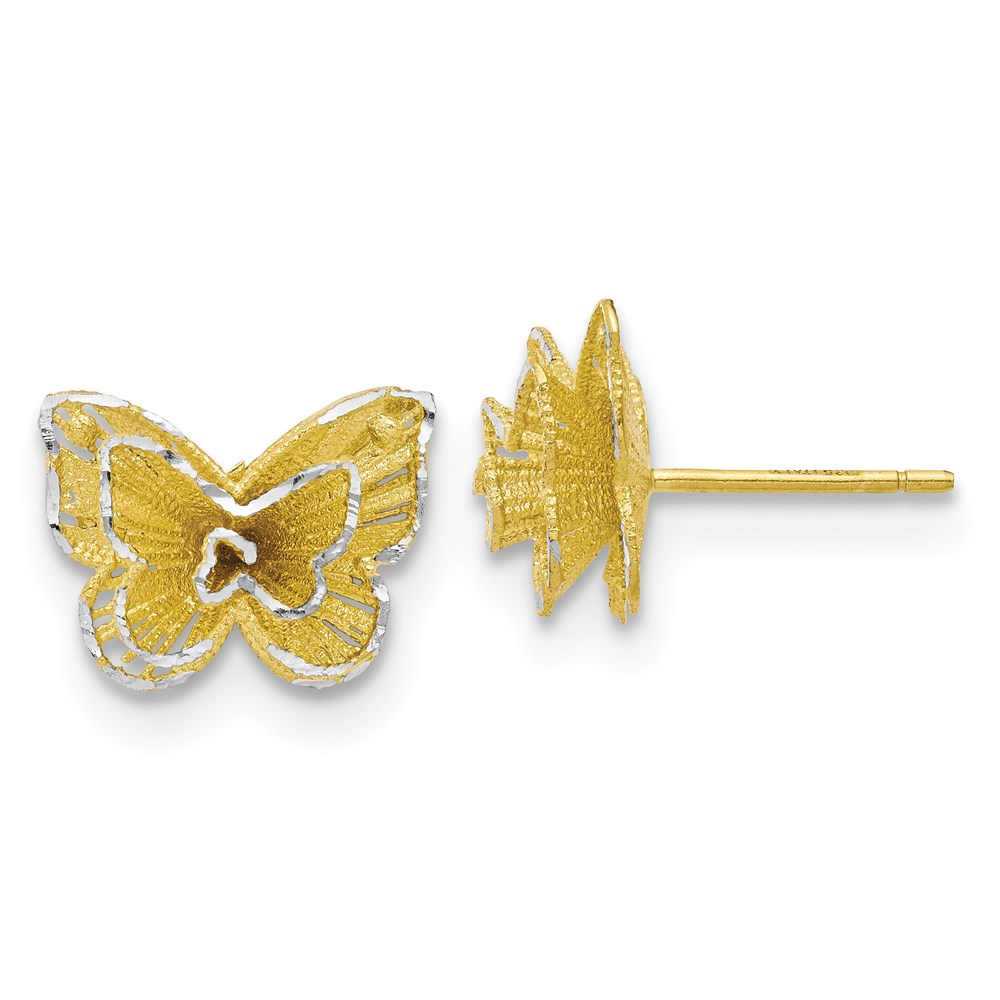Sterling Silver Earrings - Leslie's Sterling Silver Gold-tone Butterfly Earrings