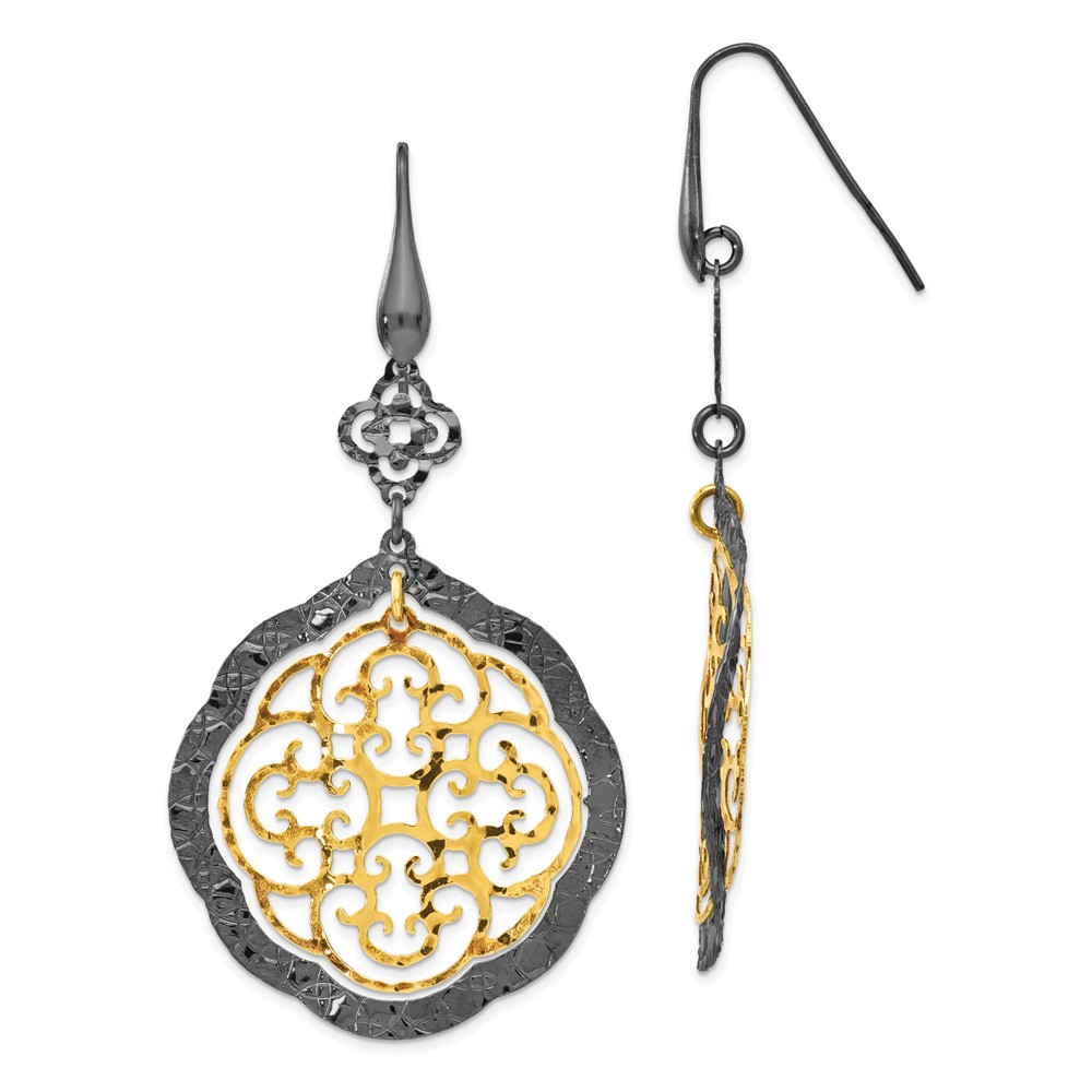 Gold-Tone Sterling Silver Earrings by Leslie