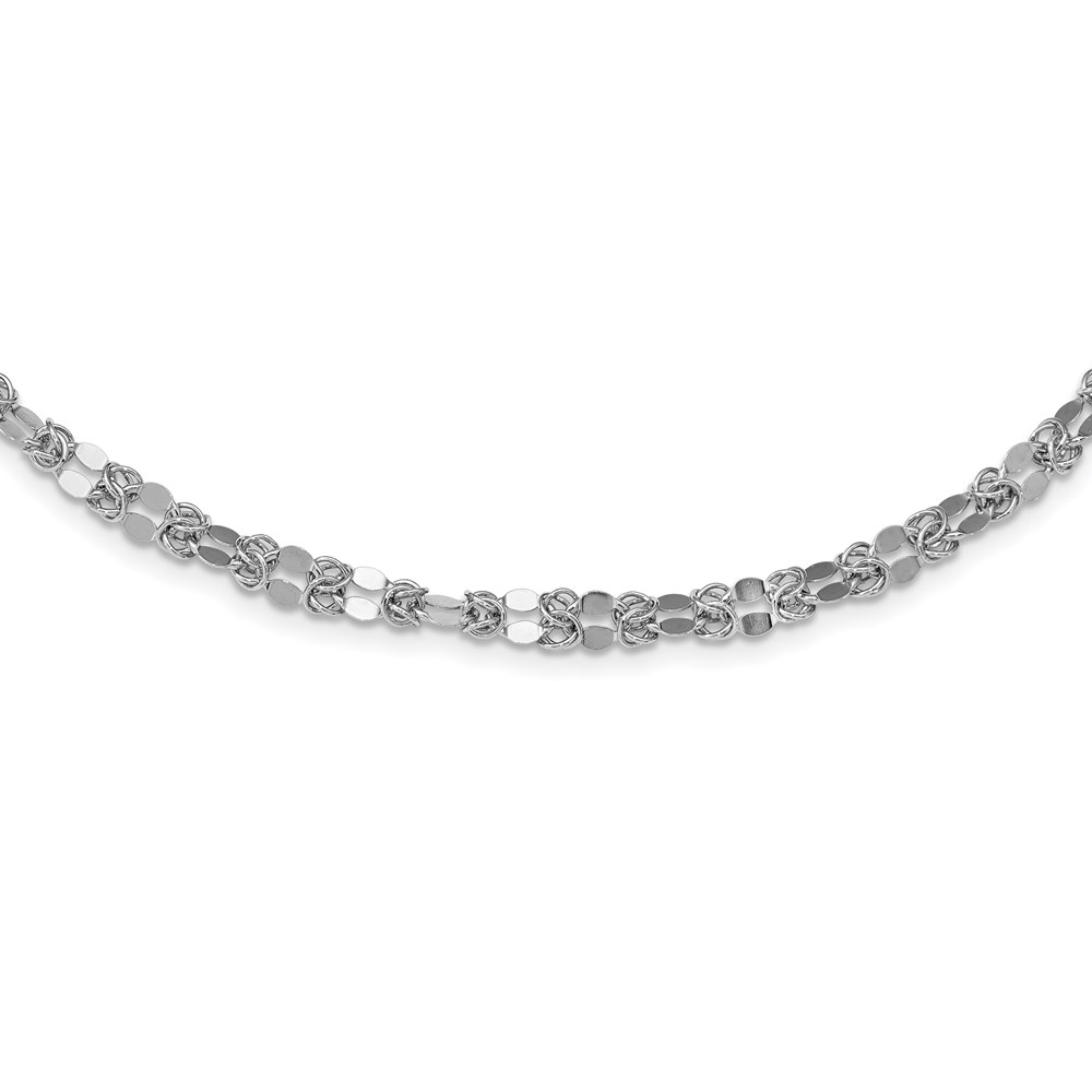 Sterling Silver Necklace by Leslie