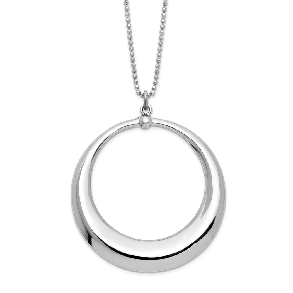 Sterling Silver Necklace - Leslie's Sterling Silver Polished Circle Necklace
