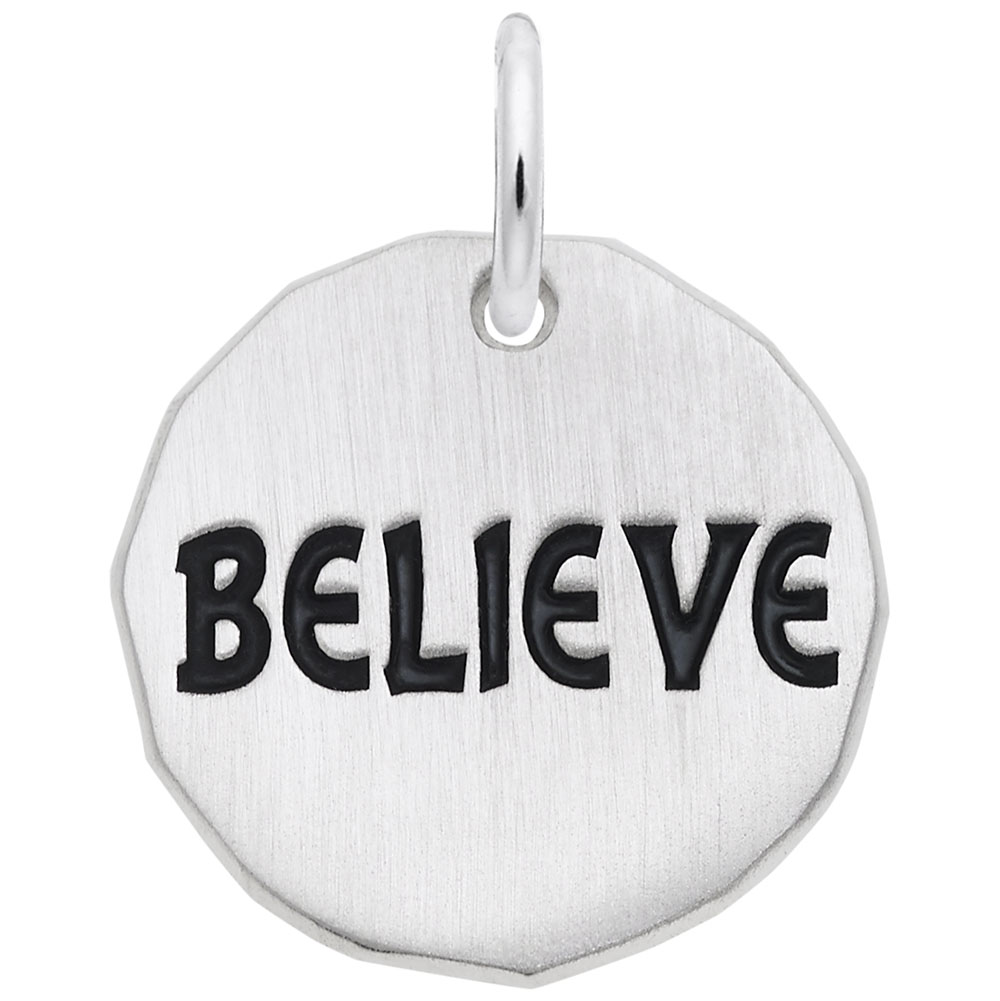 Believe Charm Tag by Rembrandt Charms