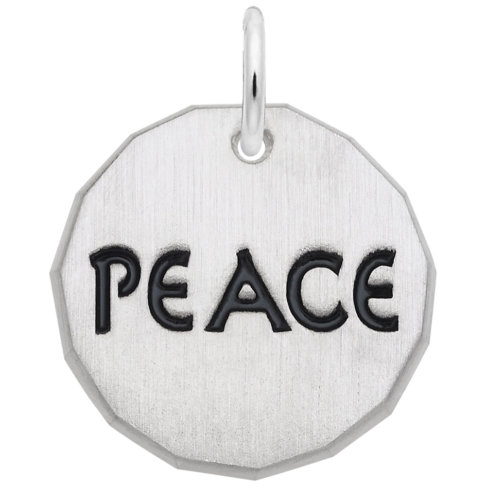 Peace Charm Tag by Rembrandt Charms