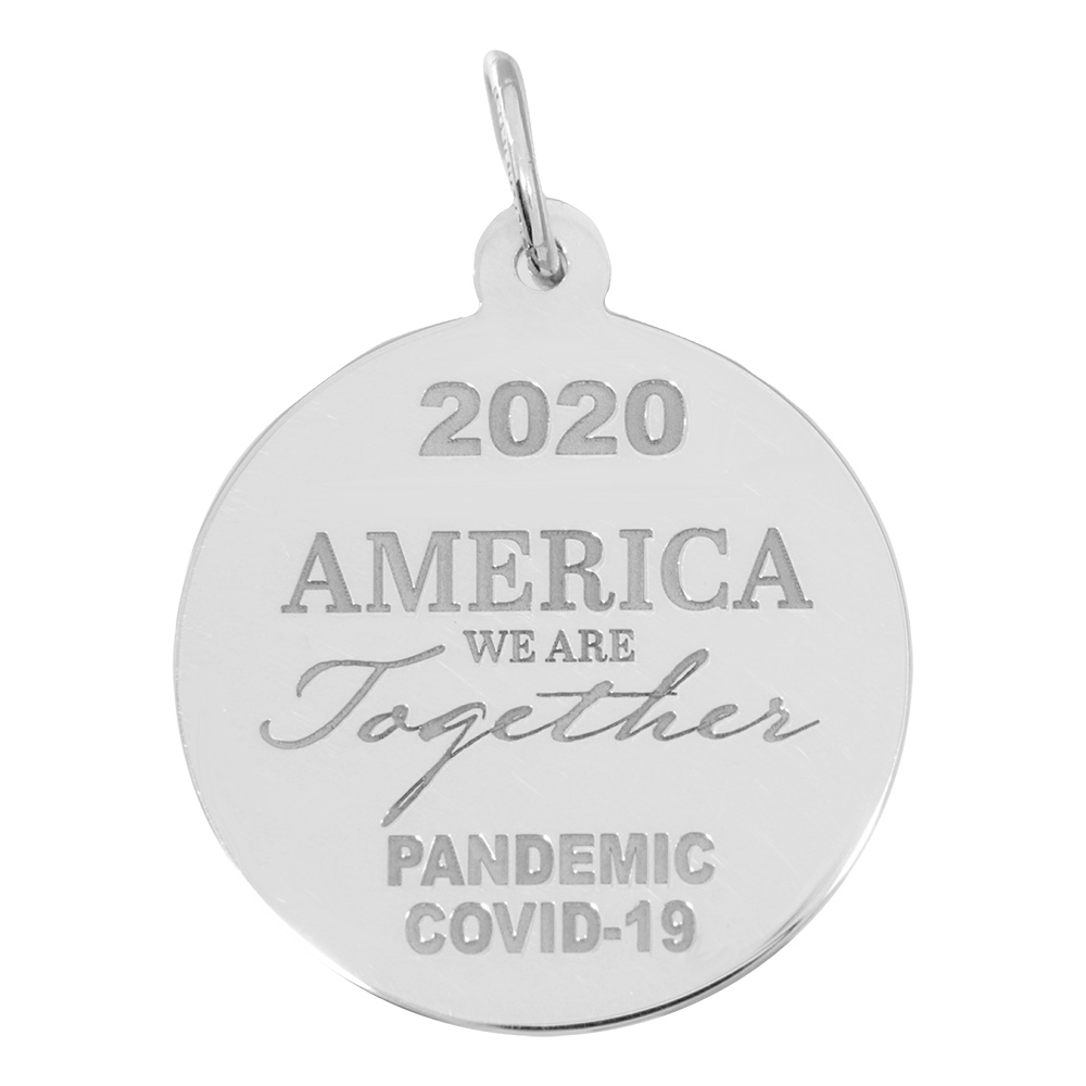 Covid-19 America We Are Together Charm by Rembrandt Charms