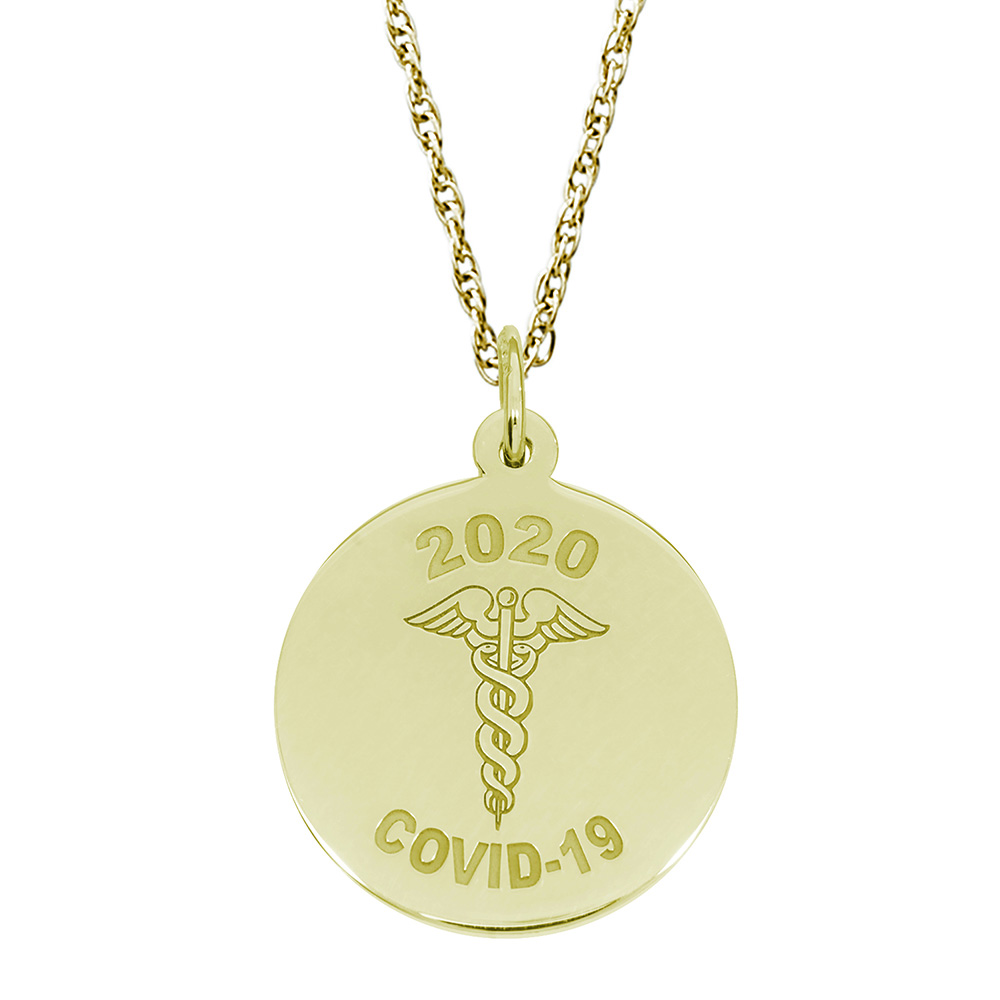 Covid-19 Caduceus Charm & Chain by Rembrandt Charms