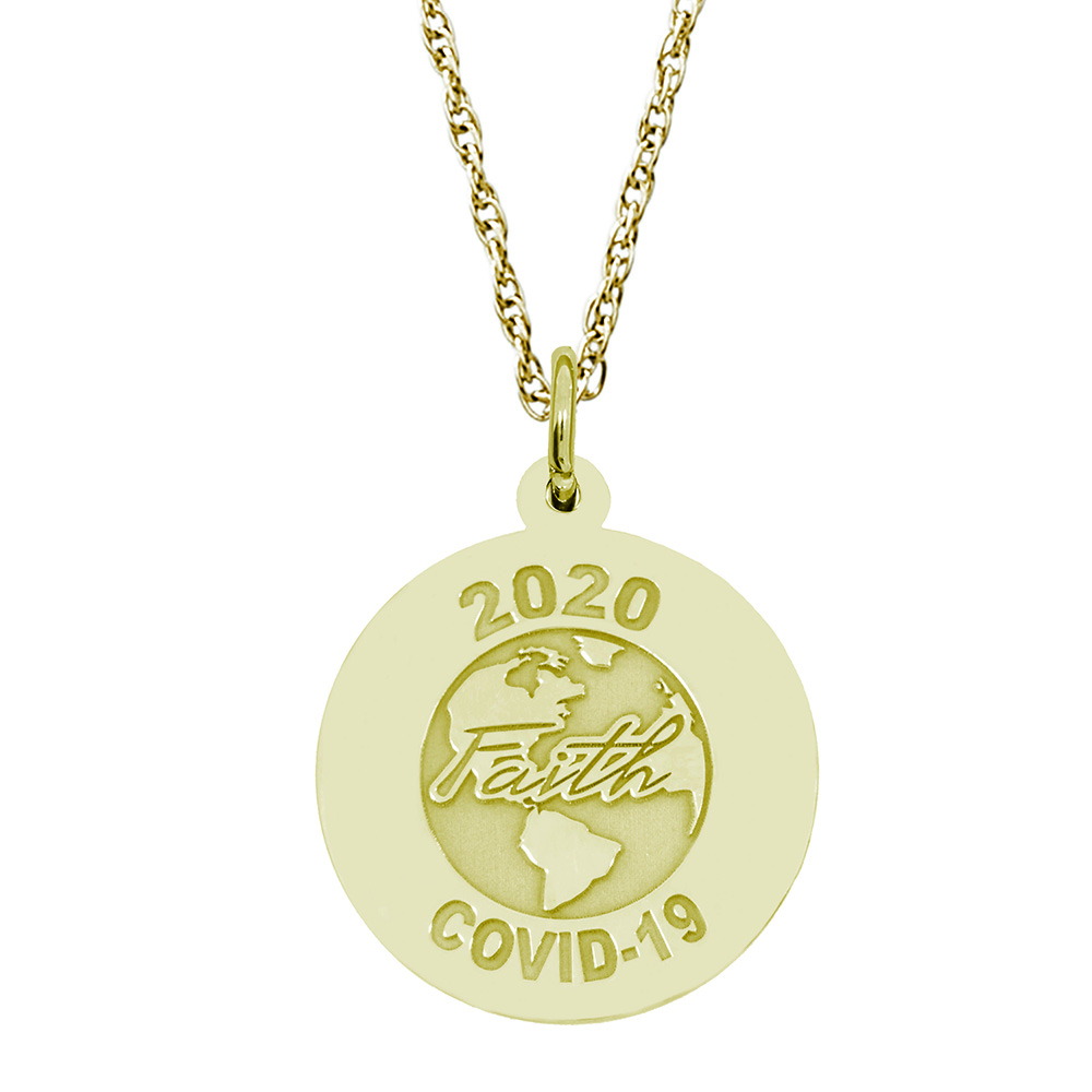 Covid-19 - Faith World Charm & Chain by Rembrandt Charms