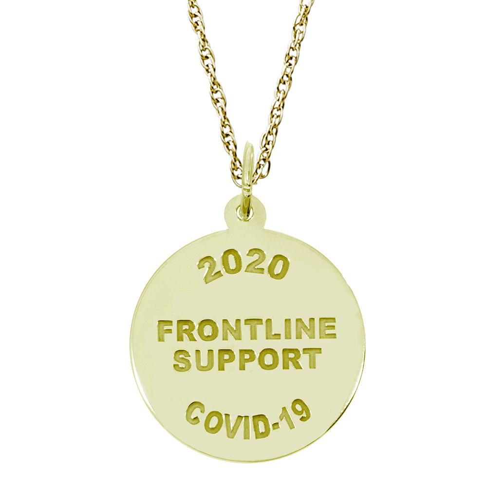 Covid-19 - Frontline Support Charm & Chain by Rembrandt Charms