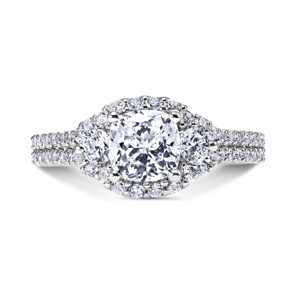 "14K ""Luminaire"" Diamond Engagement Ring by Scott Kay"