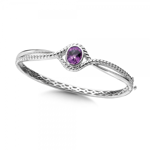 Colore SG  Sterling Silver Amethyst Bracelet by Colore | SG