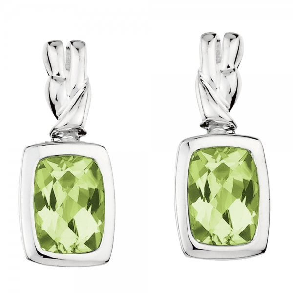 Colore SG  Sterling Silver Peridot Post Earrings by Colore | SG