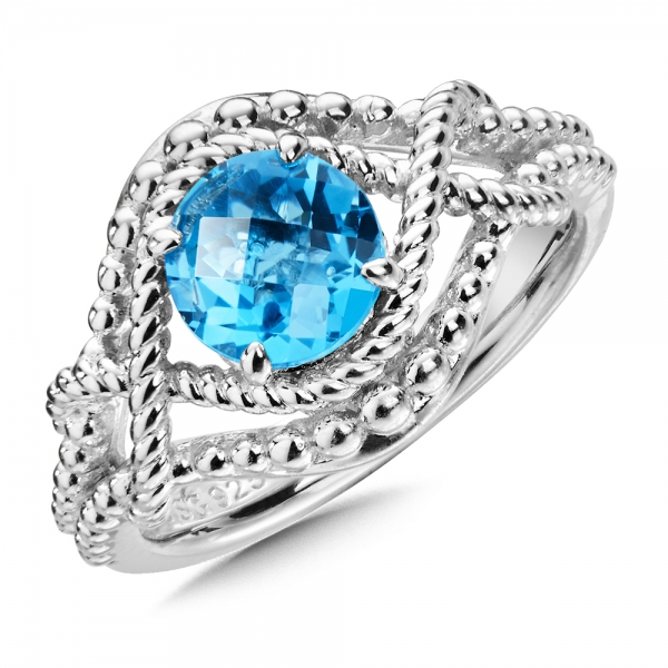 Colore SG  Sterling Silver Blue Topaz Ring by Colore | SG