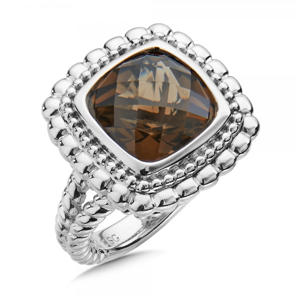 Colore SG  Sterling Silver and Smoky Quartz Ring by Colore | SG