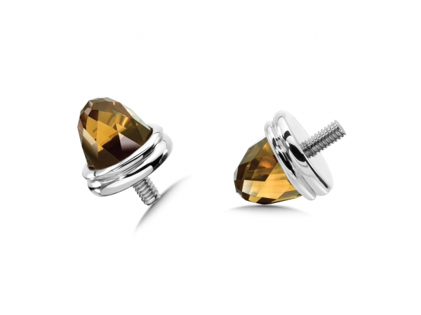 Colore SG  Sterling Silver Honey Citrine Caps by Colore | SG