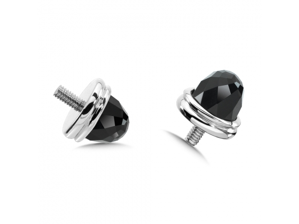 Colore SG  Sterling Silver Onyx Caps by Colore | SG