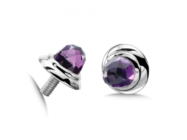 Colore SG  Sterling Silver Amethyst Caps by Colore | SG