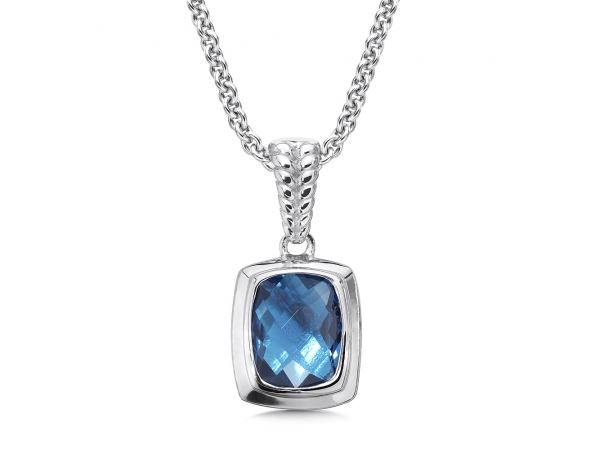 Colore SG  Sterling Silver London Blue Topaz Essentials Pendant  by Colore | SG