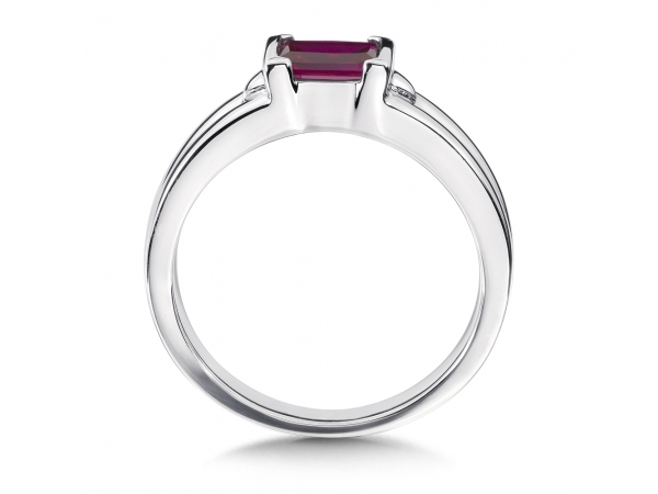 Colore SG  Sterling Silver and Created Ruby Ring by Colore | SG