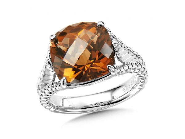 Colore SG  Sterling Silver Honey Citrine Ring by Colore | SG