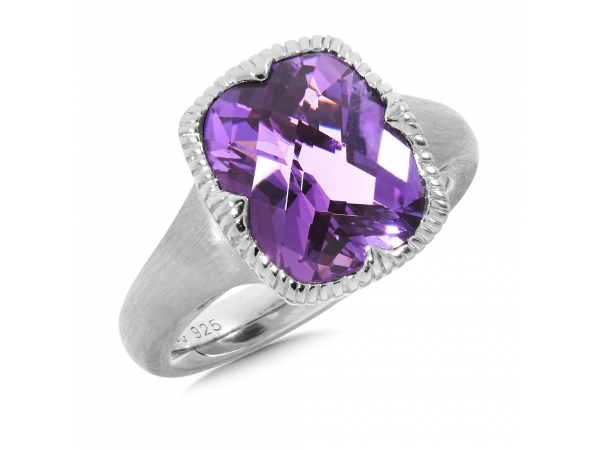 Colore SG  Sterling Silver Amethyst Ring  by Colore | SG