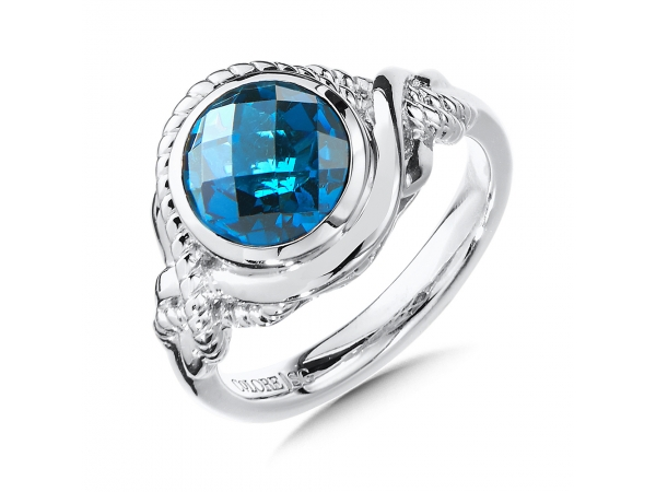 Colore SG  Sterling Silver London Blue Topaz Ring by Colore | SG