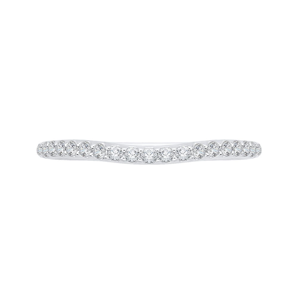 18K White Gold Ladies Wedding Band by Carizza