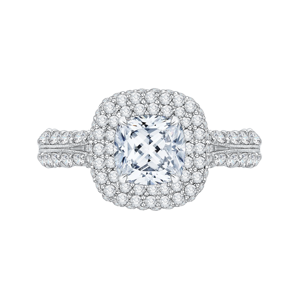 18K White Gold Engagement Ring by Carizza