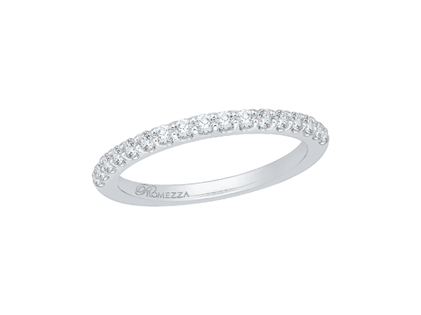 14K White Gold Ladies Wedding Band - 14K White Gold .25 ct. Diamond Promezza Wedding Band