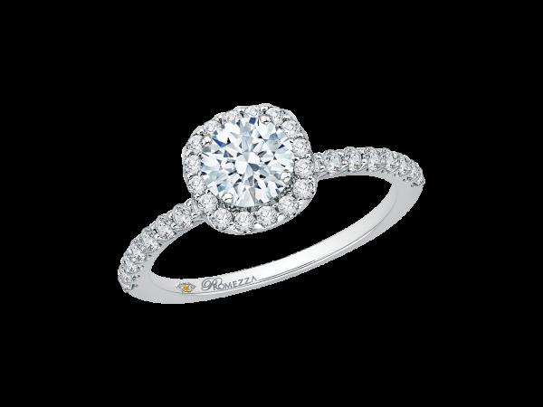 14k White Gold Engagement Ring Pr0067ec 02w Engagement Rings From