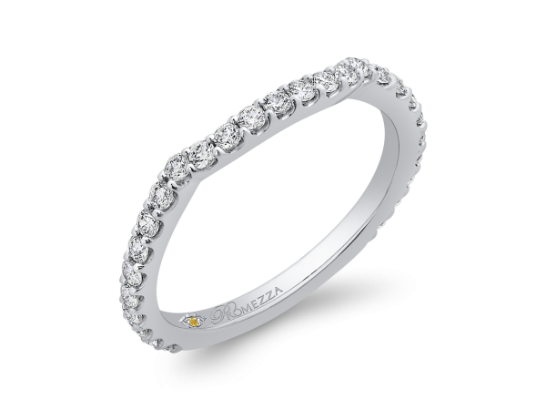 14K White Gold Ladies Wedding Band by Promezza
