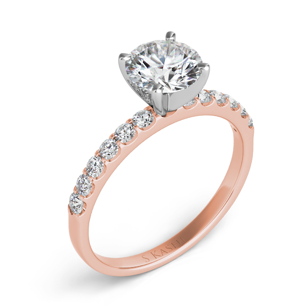 Rose Gold Engagement Ring by S. Kashi & Sons