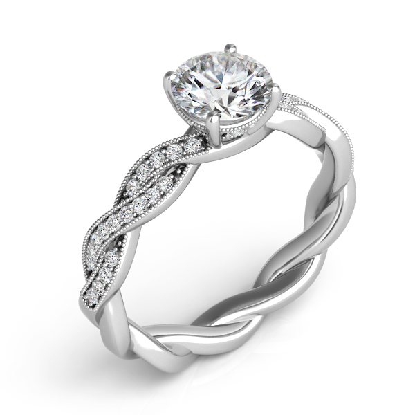 White Gold Engagement Ring by S. Kashi & Sons