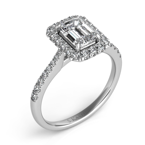 White Gold Engagement Ring by S. Kashi