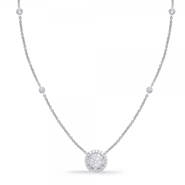 White Gold Diamond Necklace by S. Kashi & Sons