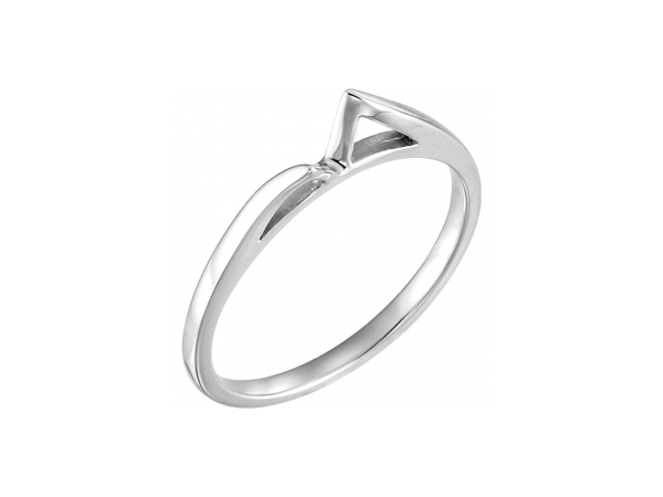 Engagement Rings - 18K White Gold Band