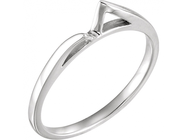 Engagement Rings - 18K White Gold & Palladium Band