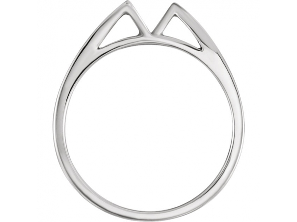 Engagement Rings - 18K White Gold & Palladium Band - image #2