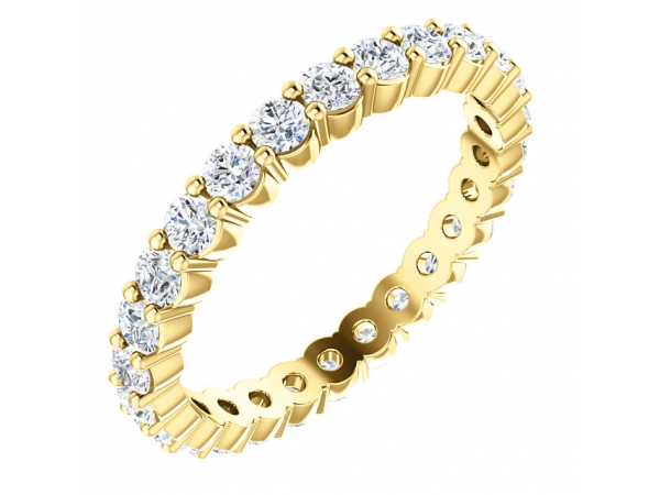 Eternity Band  - 18K Yellow Eternity Band Mounting Size 7