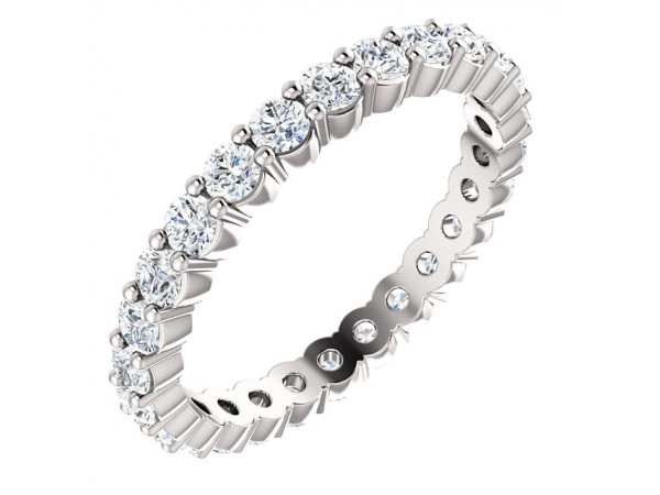 Diamond Bands - 18K White Gold Anniversary Band