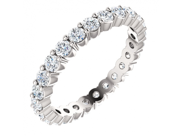 Eternity Band  - 14K White 7/8 CTW Diamond Eternity Band Size 4