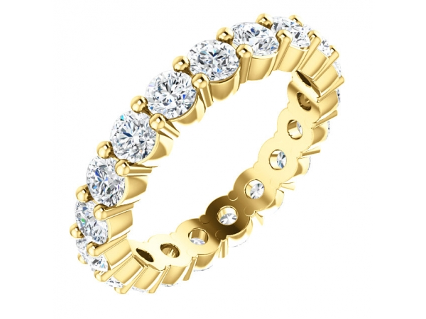 Diamond Bands - 18K Yellow Gold Anniversary Band
